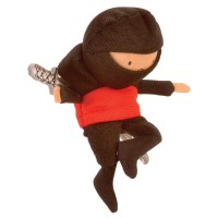 Fiesta Crafts - Red Ninja Finger Puppet (x6)