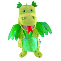 Fiesta Crafts - Green Dragon Hand Puppet (x2)