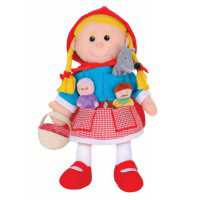 Fiesta Crafts - Red Riding Hood Hand and Finger Puppet Set (x2)
