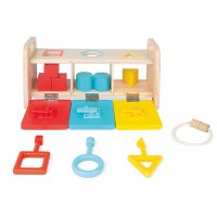 Janod - Essentials Shape Box With Keys (x3)