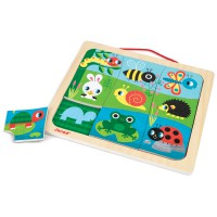 Janod - Happy Garden Magnetic Puzzle (x4)
