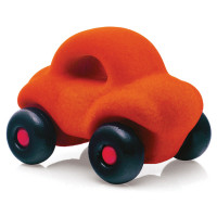 Rubbabu - Little Vehicles Car Orange (x4)